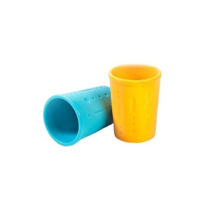 Kinderville Little Bites Cups (Set of 2, Blue / Orange) by Kinderville