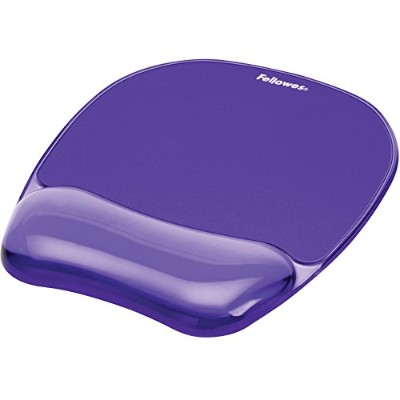 Fellowes Crystals Gel Mouse Pad/Wrist Support - Purple