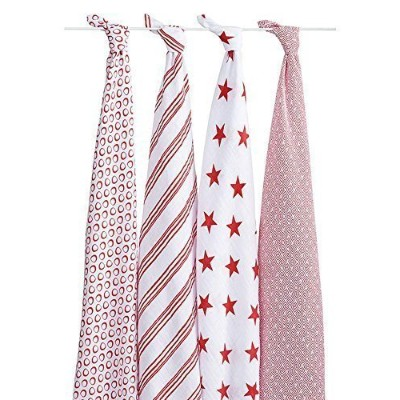 aden + anais Classic Muslin Swaddle Blanket - Product (RED) Special Edition by aden + anais