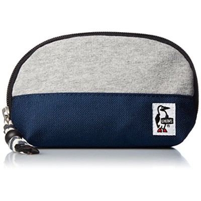 [チャムス]ポーチ Shell Pouch Sweat Nylon H-Gray/Basic Navy