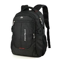 ASPENSPORT パソコンバックパック Laptop Backpack ビジネス リュック 高校生 登山 出張 旅行かばん 通学通勤 スポーツ ギフト 黒 AS-B36BLK19.5