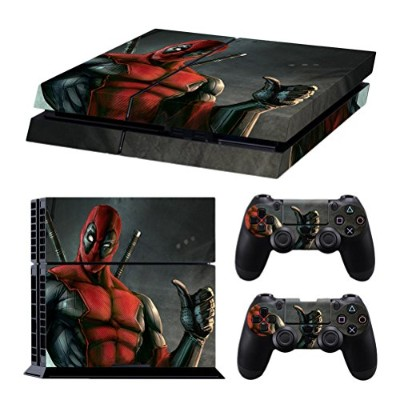 Zhuhaijq 保護 フィルム ステッカー デコ Full Body Vinyl スキンシール Decal Protective Sticker Cover for PS4 Console and...