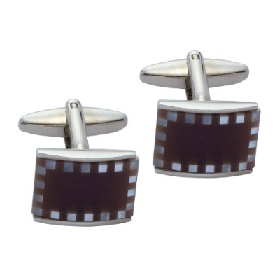 メンズカフスThe Cufflink Factory Mother of Pearl and Purple Cats Eye Cufflinks[並行輸入品]