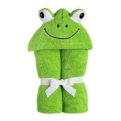 Yikes Twins Child Hooded Towel - Green Frog by Yikes Twins [並行輸入品]