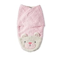 Chick Pea Swaddle Bag Sherpa Pink Bear 0-3 Months by Chick Pea