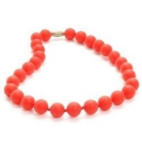 Juniorbeads Jane Jr. Necklace - Cherry Red by Chewbeads [並行輸入品]