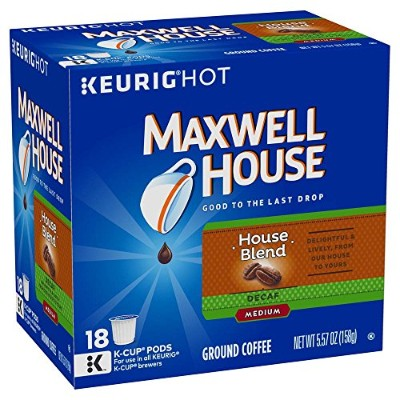 Maxwell House Cafテδゥ Collection Coffee, Decaf K-Cups, 5.57 oz. by Maxwell House