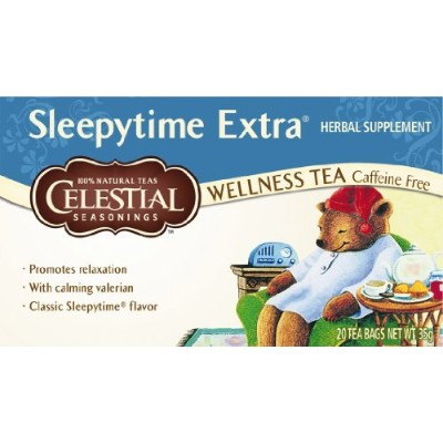 Sleepytime Extra Tea 20 Bag Bulk Pack x 6 Super Savings by CELESTIAL SEASONINGS - NATURAL