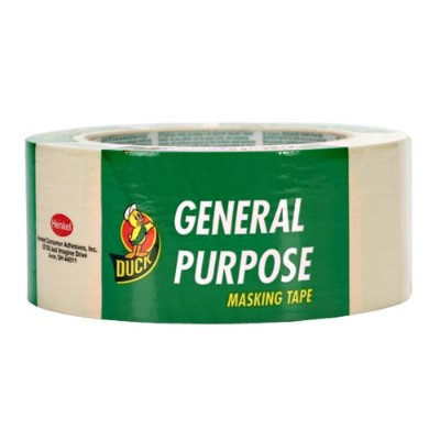 Duck Brand 394700 General Purpose Masking Tape, 1.88-Inch by 60-Yard, Single Roll, Beige by Duck