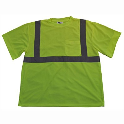 Petra Roc LTS2-5X T-Shirt Short Sleeve44; ANSI Class 2 Lime44; 5X