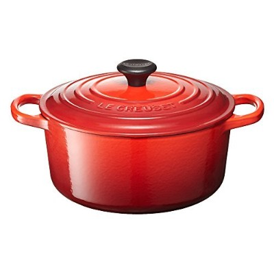 Le Creuset ル・クルーゼ シグニチャー ココット・ロンド 22cm チェリーレッド
