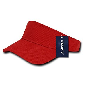 Decky 3001-RED Sports Visor, Red