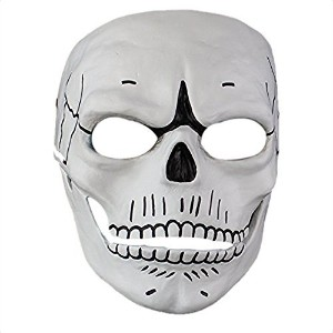 Cosplay Spectre 007 Film James Bond Novelty Creepy Skull Skeleton Full Face Mask Gift for Halloween Party Costume Decorations,White