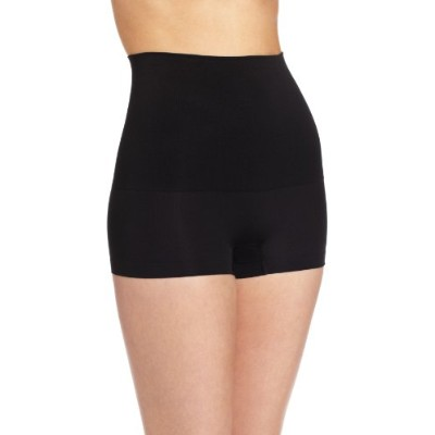 Maidenform 12555 Control It Slim Waisters Hi - Waist Boy Short Size Medium, Black