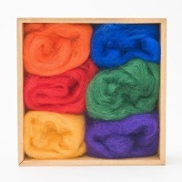Wool Roving Rainbow Colors by WoolPets by WoolPets