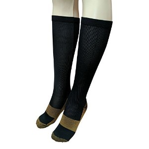 Compression Socks Copper Infused Anti Fatigue Socks For Men Woman Pain Ache Relief (L & XL) by Perfect Seeking