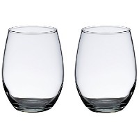 Lillian Rose G110 Stemless Wine Glasses, 15-Ounce, Clear, Set of 2 by Lillian Rose [並行輸入品]