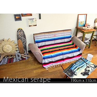 RUG&PIECE Mexican Serape made in mexcico ネイティブ メキシカン サラペ メキシコ製 190cm×110cm (rug-6131)