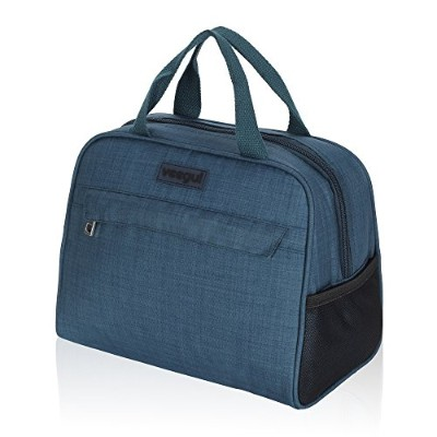 (Teal) - Veegul Recycle Cooler Insulated Lunch bag for Work School Outdoor Teal