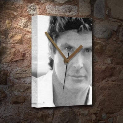 DAVID HASSELHOFF - Canvas Clock (LARGE A3 - Signed by the Artist) #js001