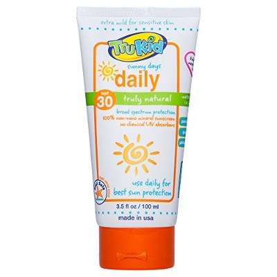 TruKid Sunny Days Daily SPF 30 Plus UVA/UVB Sunscreen Lotion, 3.5 Ounce by TruKid