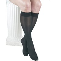 ITA-MED Sheer Knee Highs, Compression(20-22 mmHg), Black, X-Large, 3 Count by ITA-MED