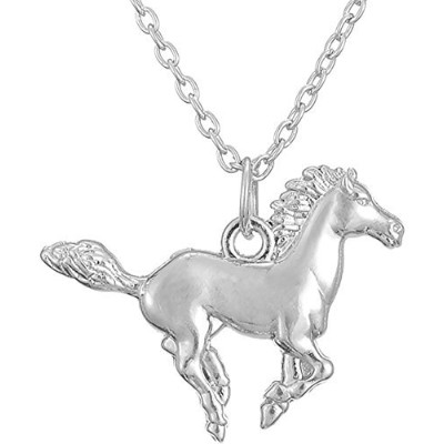 Little PonyペンダントRunning Horseネックレスfor Teen Girls Equestrian誕生日ギフトジュエリー