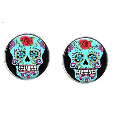 スチームパンク – Sugar skulls – Dia De Los Muertos Cufflinks – Day of the Dead – メキシコ – Sugarskull s4