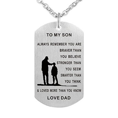 ttvovo Inspirational犬タグペンダントネックレスfor KidsステンレススチールAir Force MilitaryジュエリーPersonalizedカスタムDogtags