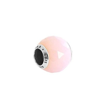 PANDORA (パンドラ) チャーム MULTI 791722NOP ABSTRACT SILVER CHARM WITH FACETED OPALESCENT ROSA [並行輸入品]