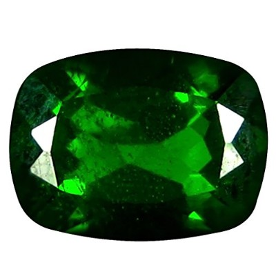 クロームディオプサイド ルーズジェームズ 1.51 ct Cushion Cut (8 x 6 mm) Russian Chrome Diopside Natural Loose Gemstone