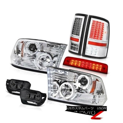 ヘッドライト 2009-2013 Ram 1500 SLT Red High Stop Lamp Taillamps Smoked Foglights Headlights 2009-2013...