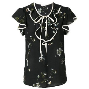 Red Valentino floral print blouse - ブラック
