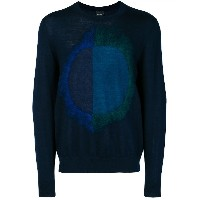 Ps By Paul Smith circle design sweater - ブルー