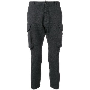 Dsquared2 cropped cargo trousers - グレー
