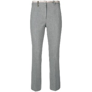 Peserico creased cigarette trousers - グレー