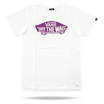 (バンズ) Vans 「OFF THE WALL」 半袖Tシャツ VANS-MT02 White/Purple Size M