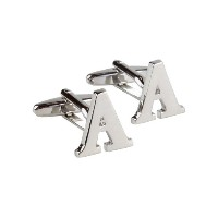 Personalized Intial Alphabet Cufflinks inギフトボックス