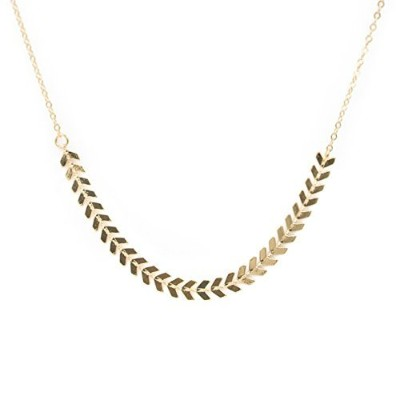 Laurel Leaf Layering Necklace