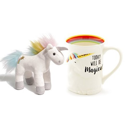 MagicalユニコーンSculpted Mug andユニコーンChatters Magicalサウンド6インチ–セットof 2items