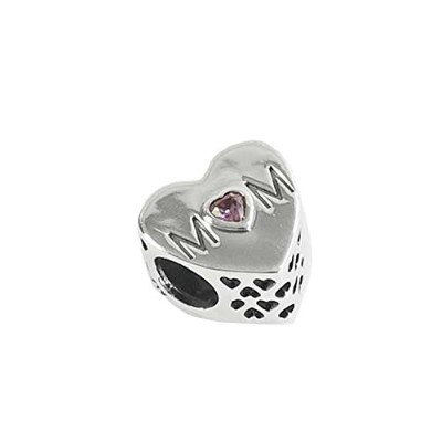 PANDORA (パンドラ) チャーム MULTI 791881PCZ MOTHER HEART CHARM SILVER [並行輸入品]