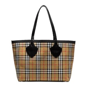 Burberry nude The Medium Giant cotton vintage check tote - ヌード&ナチュラル