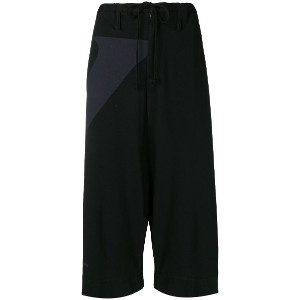 Y's drawstring cropped trousers - ブラック