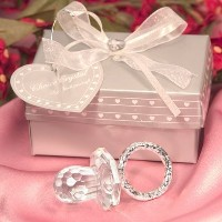 Crystal Pacifier Favors in Elegant Packaging, 96 by Fashioncraft [並行輸入品]
