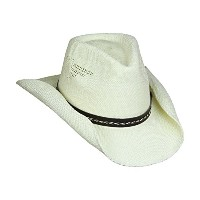 Shapeable Drifter Cowboy Hat W / Eagle cut-outs、レザーハットバンドW / Braid、フレックスフィット 23 inch ホワイト