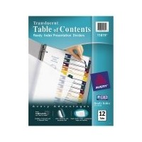 Ready Index Table/Contents Dividers, 12-Tab, Letter, Assorted, 12/Set (並行輸入品)