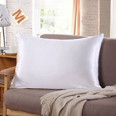 (Toddler/Travel, White) - Tim & Tina 22 Momme 100% Pure Mulberry Luxury Silk Pillowcase, Good for...
