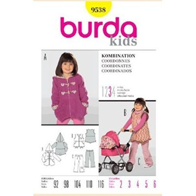 Burda Kids Sewing Pattern 9538 for Child's Coordinates, Sizes 2 - 6 by Burda [並行輸入品]