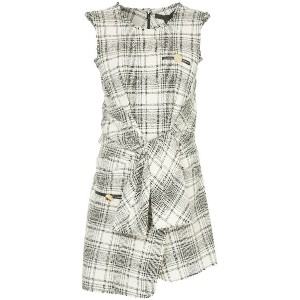 Alexander Wang checked sleeveless dress - ホワイト