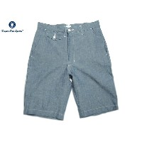 POST OVERALLS(ポストオーバーオールズ)/#1374JC JAPANESE CHAMBRAY MENPOLINI SHORTS/indigo【父の日】【ギフト】
